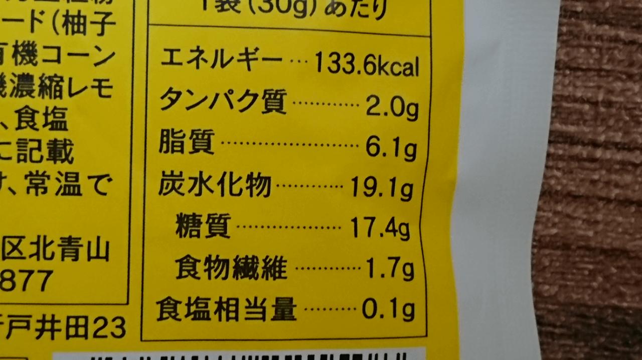 グラノーラ栄養成分